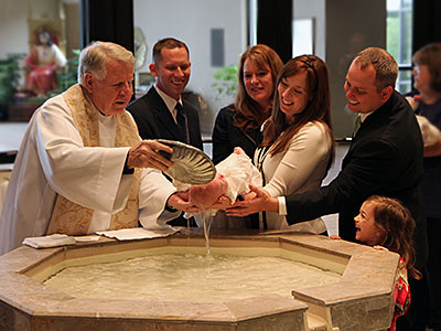 The rite of baptism of an adult