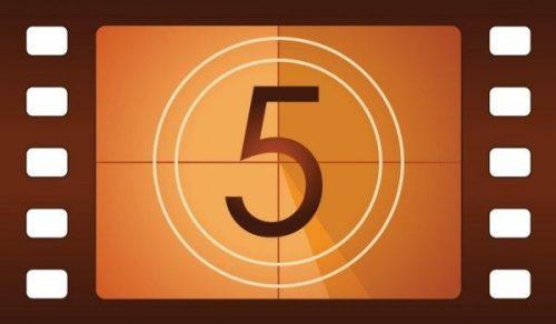 Человек с цифрой пять вносит прогресс и свободу в общество