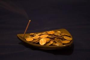 Ритуал привлечения удачи на монетах