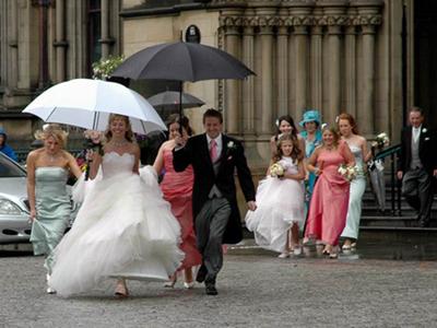 Приметы дождя на свадьбу