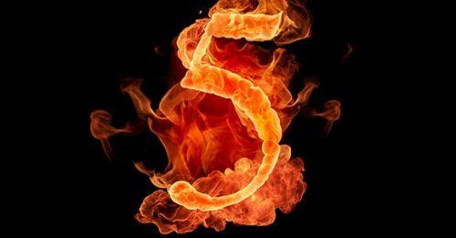 Число пять принижает действие благоприятных цифр